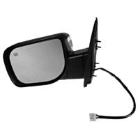 Fits 04-14 Armada Left Driver Chrome Power Mirror W/Ht,Mem,Lamp,Sing Arm,ManFold