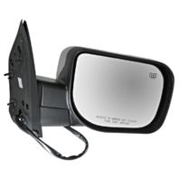 Fits 04-14 Titan Right Pass Chrome Power Mirror W/Ht,Mem,Lamp,Sing Arm, Man Fold