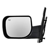 Fits 04-15 Titan / Armada Left Driver Text Power Mirror W/Ht,Single Arm,Man Fold