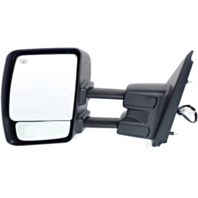 Fits 12-17 Nissan NV Left Driver Power Mirror With Heat Tow Chrome Manual Fold