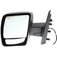 Fits 12-13 Nissan NV Left Driver Power Mirror W/Heat No Towing Package Textured
