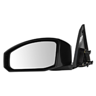Fits 03-09 Nissan 350Z Left Driver Unpainted Power Mirror Smooth Black No Heat