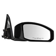 Fits 03-09 Nissan 350Z Right Pass Unpainted Power Mirror Smooth Black No Heat