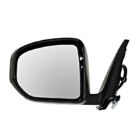 Fits 09-14 Nissan 370Z Left Driver Unpainted Power Mirror Smooth Black No Heat
