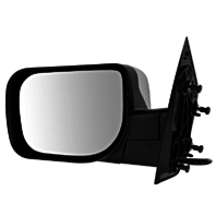 Fits 04 Pathfinder Armada Left Driver Chrome Mirror W/Single Arm Manual Fold