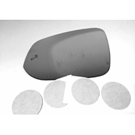 Fits 13-18 Toy Rav4, 14-18 Highlander Left Driver Mirror Glass Lens w/Blind Spot Icon w/Adhesive