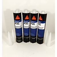 Auto Glass Urethane / Adhesive / Sealant  Primerless to Glass 4 Tubes Sika P2G