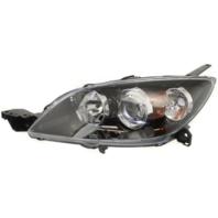 Fits 04-09 Mazda 3 Hatchback (excludes Mazdaspeed) Left Driver Halogen Headlamp