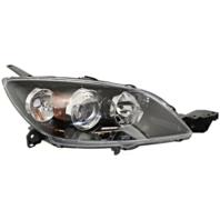 Fits 04-09 Mazda 3 Hatchback (excludes Mazdaspeed) Right Pssngr Halogen Headlamp