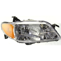 FITS 01-03 MAZDA PROTEGE SEDAN RIGHT PASS HEADLAMP ASSEMBLY With/ALUMINUM BEZEL