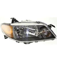 Fits 01-03 Mazda Protege Sedan Right Passenger Headlamp Assembly w/Metal Coat Bezel