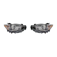 FITS 13-16 MAZDA CX-5 LEFT & RIGHT SET HALOGEN HEADLAMP ASSEMBLIES