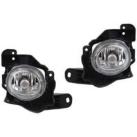 Fits 10-13 Mazda 3 Mazdaspeed Left & Right Round Fog Lamp Assemblies - pair