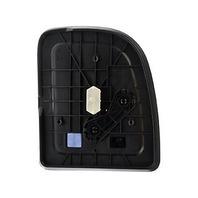 Left Driver Mirror Glass Upper & Lower Set w/ Rear Motor Mount Backing Plate