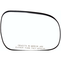 Right Passenger Convex Heated Mirror Glass w/Rear Holder for 04-10 Toyota Sienna