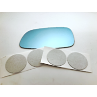 Fits 92-96 Mitsubishi Diamante Left Driver Blue Mirror Glass Lens w/ Adhesive