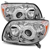 Fits 06-09 Toy. 4Runner Left & Right Headlight Units W/chrome Bezel - pair