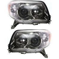 Fits 06-09 Toy. 4Runner Left & Right Headlight Units W/Smoked Bezel - pair