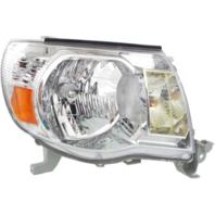Fits 05-11 Toy Tacoma Right Passenger Side Headlight Assembly w/Chrome Bezel