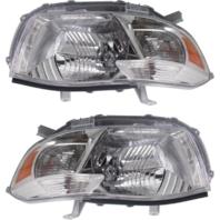 Fits 08-10 Toyota Highlander (except Hybrid) L & R Headlamp Assys Clear Lens (pair)