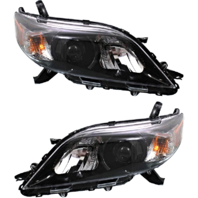 Fits 11-14 Toy Sienna Left & Right Side Halogen Headlights w/smoked bezel