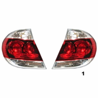 FITS 05-06 TOYOTA CAMRY LEFT & RIGHT SET TAIL LAMP ASSEMBLES W/BLACK TRIM