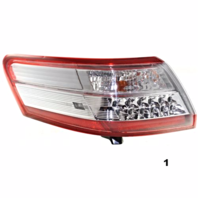 FITS 10-11 TOYOTA CAMRY HYBRID LEFT DRIVER TAIL LAMP ASSEMBLY QUARTER MOUNTED