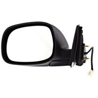 Fits 00-06 Tundra Left Driver Mirror Power Non-Painted Blck Regular & Access Cab