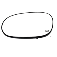 Fits 08-15 DG Challenger Left Driver Heated Mirror Glass w/Rear Holder  OE