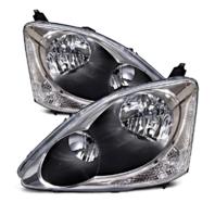 Fits 04-05 Honda Civic Hatchback (exc sedans,coupes,wagons) L&R Headlamps (pair)