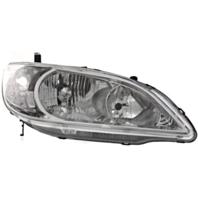 Fits 04-05 Honda Civic Sedan & Coupe (exc hatchback, wagon) Right Psngr Headlamp