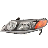 Fits 06-11 Honda Civic Sedan Left Driver Headlamp Assembly w/Amber Park Lens