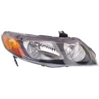 Fits 06-11 Honda Civic Sedan Right Passenger Headlamp Assembly w/Amber Park Lens