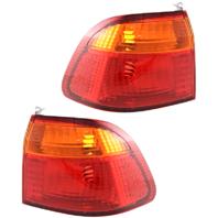 Fits 99-00 Honda Civic Sedan Left & Right Set Tail Lamp Unit Quarter Mounted