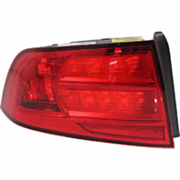 Fits 04-08 Acura TL Left Driver Tail Lamp Unit with Red Lens