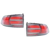Fits 04-08 Acura TL Type S Left & Right Set Tail Lamp Assembly with Chrome Trim