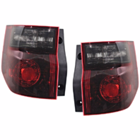 Fits 03-08 Honda Element Left & Right Set Tail Lamp Unit with Dark Red Lens