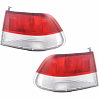 Fits 99-00 Honda Civic Coupe Left & Right Set Tail Lamp Rear Body Assemblies