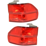 Fits 99-01 Hd Odyssey Left & Right Set Tail Lamp Assemblies Quarter Mounted