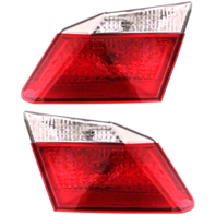 Fits 13-15 Honda Accord Sedan Left & Right Tail Lamp Set without LED Lamps