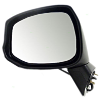 Fits 12-13 Honda Civic Left Driver Mirror Power Non-Painted Black w/Heat