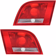 Fits 06-08 Audi A3 Left & Right Set Tail Lamp Unit Assemblies Trunk LID Mounted