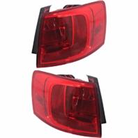 FITS 13-14 VW JETTA HYBRID L & R SET TAIL LAMP QUARTER MOUNTED W/O LED LIGHT