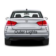 Set Left & Right Tail Lamp Assemblies Outer Quarter Mounted for 12-15 VW PASSAT