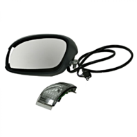 Fits 03-10 Beetle Left Driver Power Mirror Power UnPainted Black w/Heat, Signal