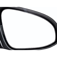 Fits 12-14 Toyota Yaris Right Passenger Convex Mirror Glass & Holder New OE