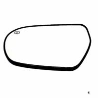 Fits 05-09 Subaru Legacy Outback Left Driver Heated Mirror Glass w/ Rear Mount Brkt OE