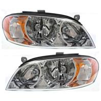 Fits 02-04 Spectra Sedan (exc hatchback) Left & Right Headlamp Assemblies - Set