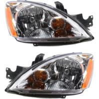 Fits 04-07 Mits. Lancer Wagon L & R Combo Headlamp Assm w/Clear Lens - pair