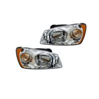 Fits 04-06 Kia Spectra LX Model Left & Right Headlamp Assemblies W/Chrome - Set